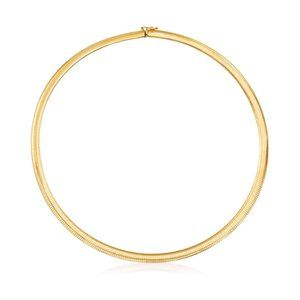 14k Make in Italy Omega Gold Collar Necklace 35G